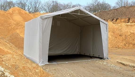 tente de stockage 3x6m hauteur de c t de 3m porte 2x3 2m toile pvc de 720 g m ignifug e. Black Bedroom Furniture Sets. Home Design Ideas