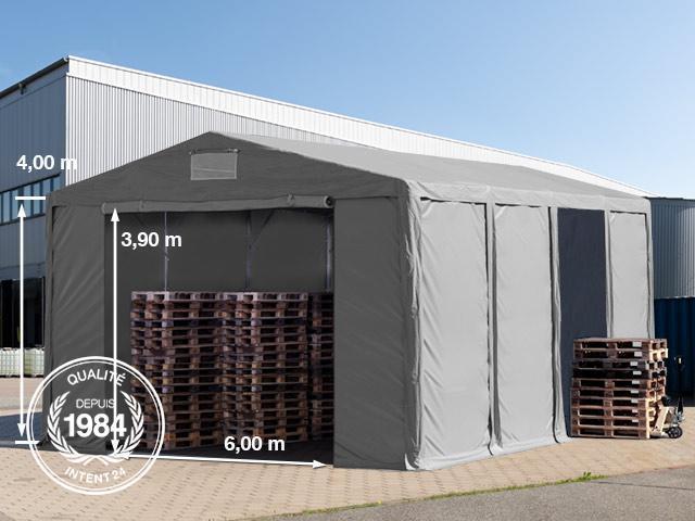 8x8m tente de stockage pvc h 4m avec portes fermeture Porte de garage 4m