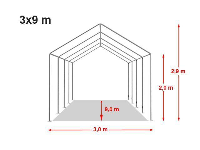 3x9 m tente r ception pe h 2 0m blanc francky. Black Bedroom Furniture Sets. Home Design Ideas