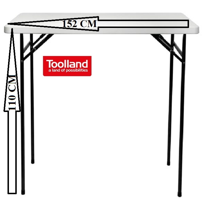 table mange debout pliante rectangulaire l 152 cm h 110 cm francky shop com. Black Bedroom Furniture Sets. Home Design Ideas