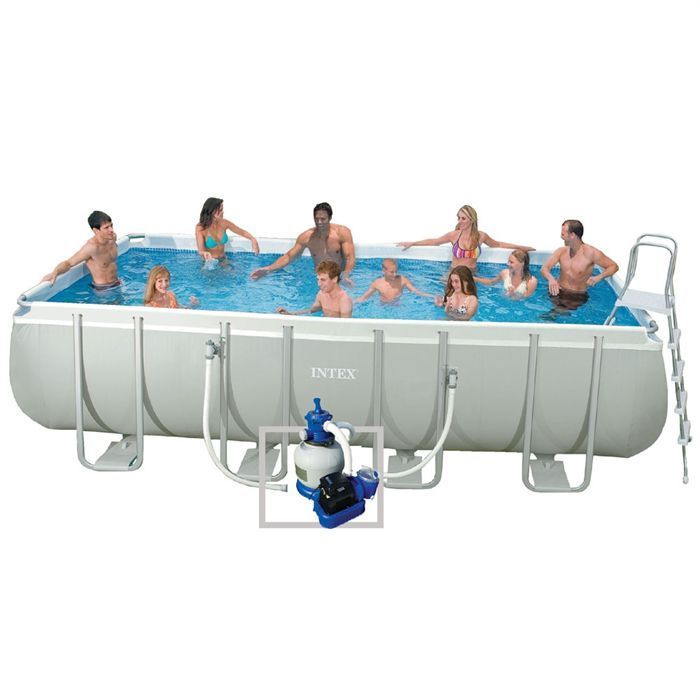 Piscine ultra silver intex 5 49 x 2 74 x 1 32 m francky for Intex prix piscine
