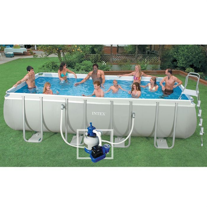 Piscine ultra silver intex 5 49 x 2 74 x 1 32 m francky for Piscine intex 5 m