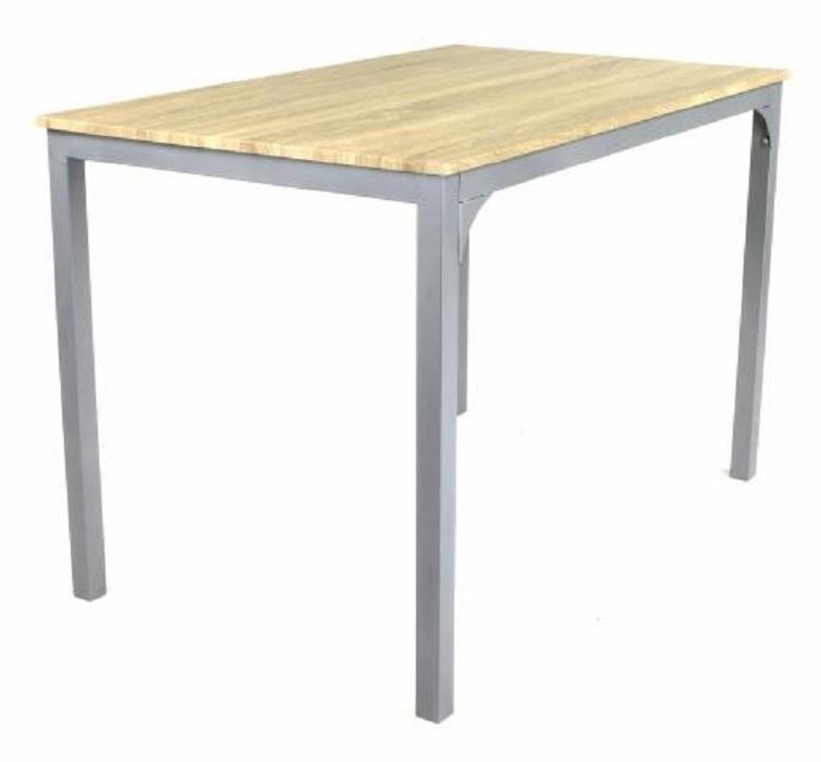 4 chaises bistro bois table manger 110 cm francky for Table hauteur 110 cm