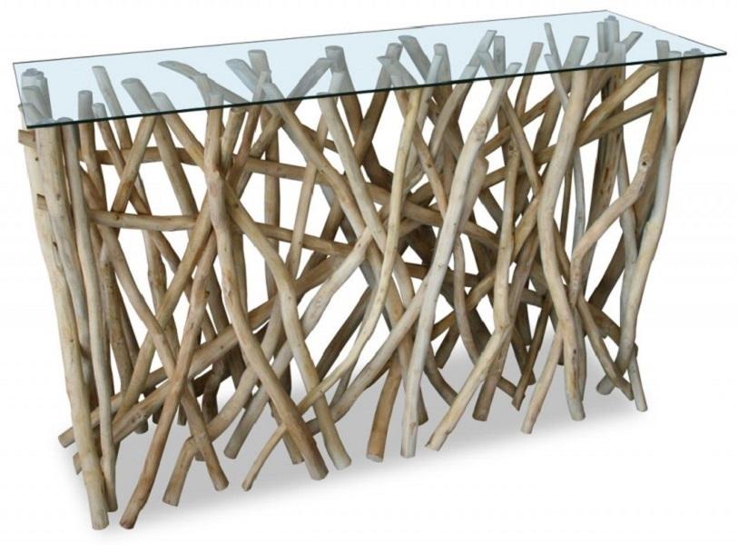 console design en bois flott teck francky shop com. Black Bedroom Furniture Sets. Home Design Ideas