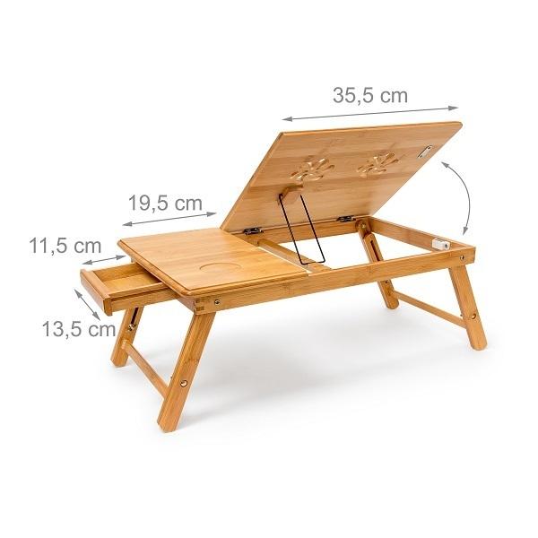 plateau de lit bambou avec repose ordinateur francky shop com. Black Bedroom Furniture Sets. Home Design Ideas