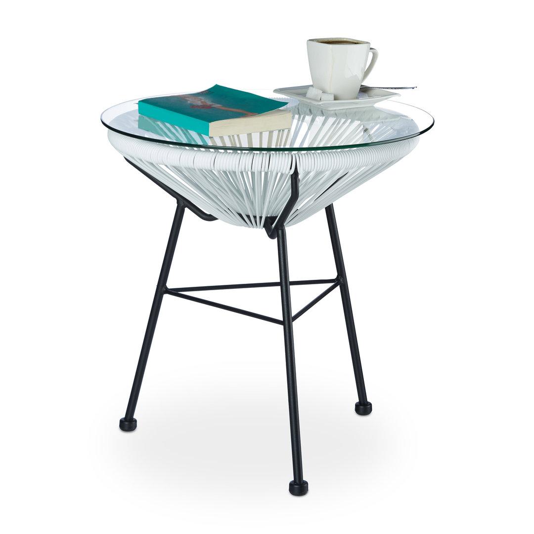 Table Basse Design Et Retro De Jardin Blanche Francky Shopcom
