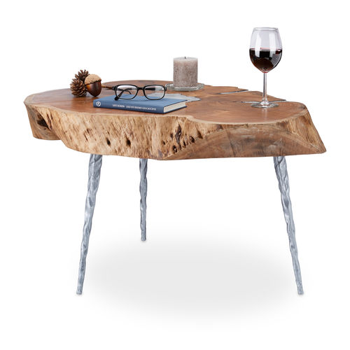 table basse en bois d'acacia robuste