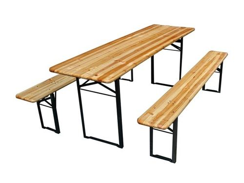 Table brasserie + 2 bancs pliable 200 x 60 cm