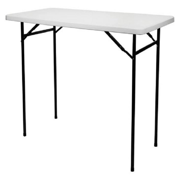 TABLE MANGE DEBOUT PLIANTE - RECTANGULAIRE - L:152 cm H