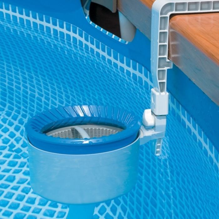 Intex sequoia piscine tubulaire ronde aspect bois 4 78 x 1 for Intex piscine liner
