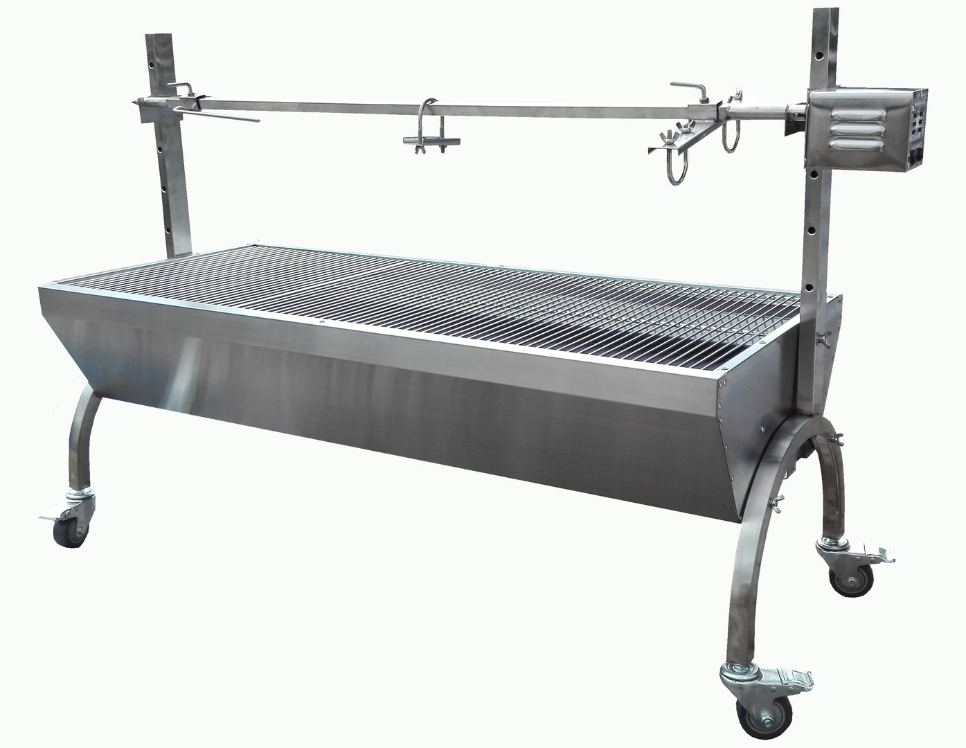 barbecue grill pro inox 2 broche 40 kg m choui francky shop com. Black Bedroom Furniture Sets. Home Design Ideas