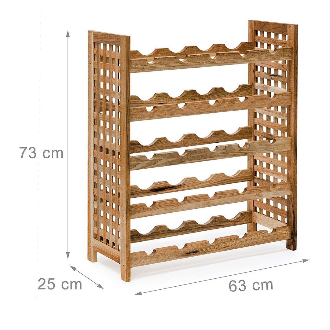 casier bouteilles tag re vin cave vin 25 bouteilles noyer huil francky shop com. Black Bedroom Furniture Sets. Home Design Ideas