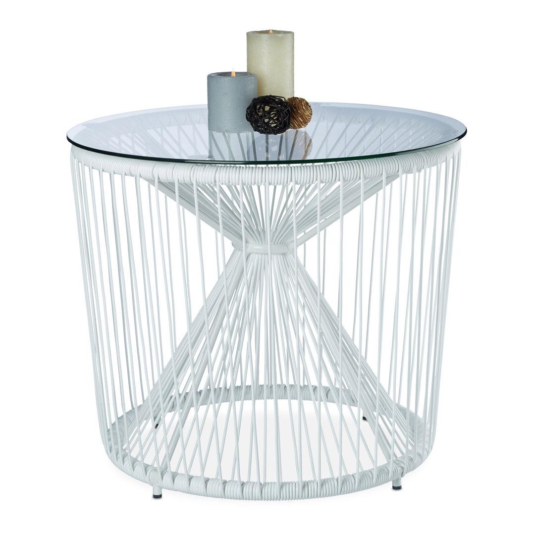 table basse design de jardin blanche