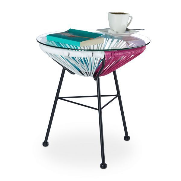 table basse design et r tro de jardin turquoise et rose francky shop com. Black Bedroom Furniture Sets. Home Design Ideas
