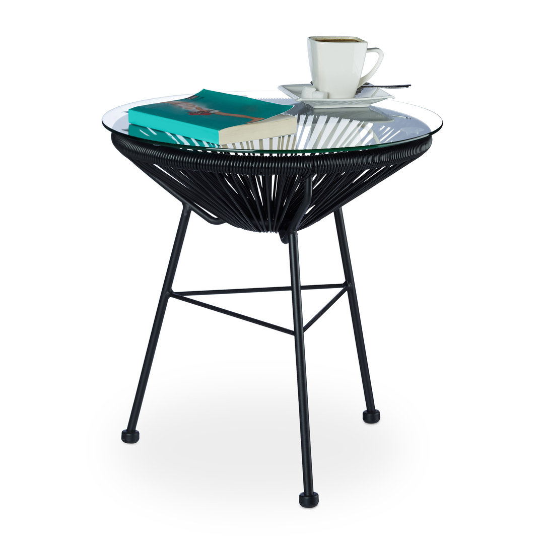 Table basse design et retro de jardin noir francky for Table jardin design