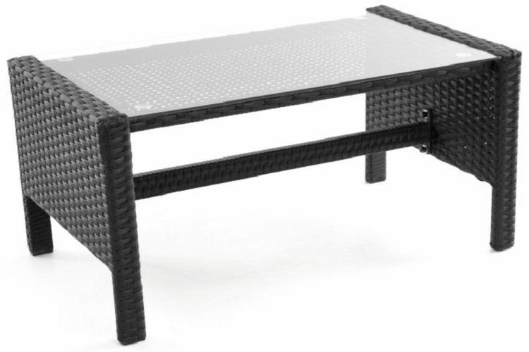 salon de jardin polyrotin noir - FRANCKY-SHOP.COM