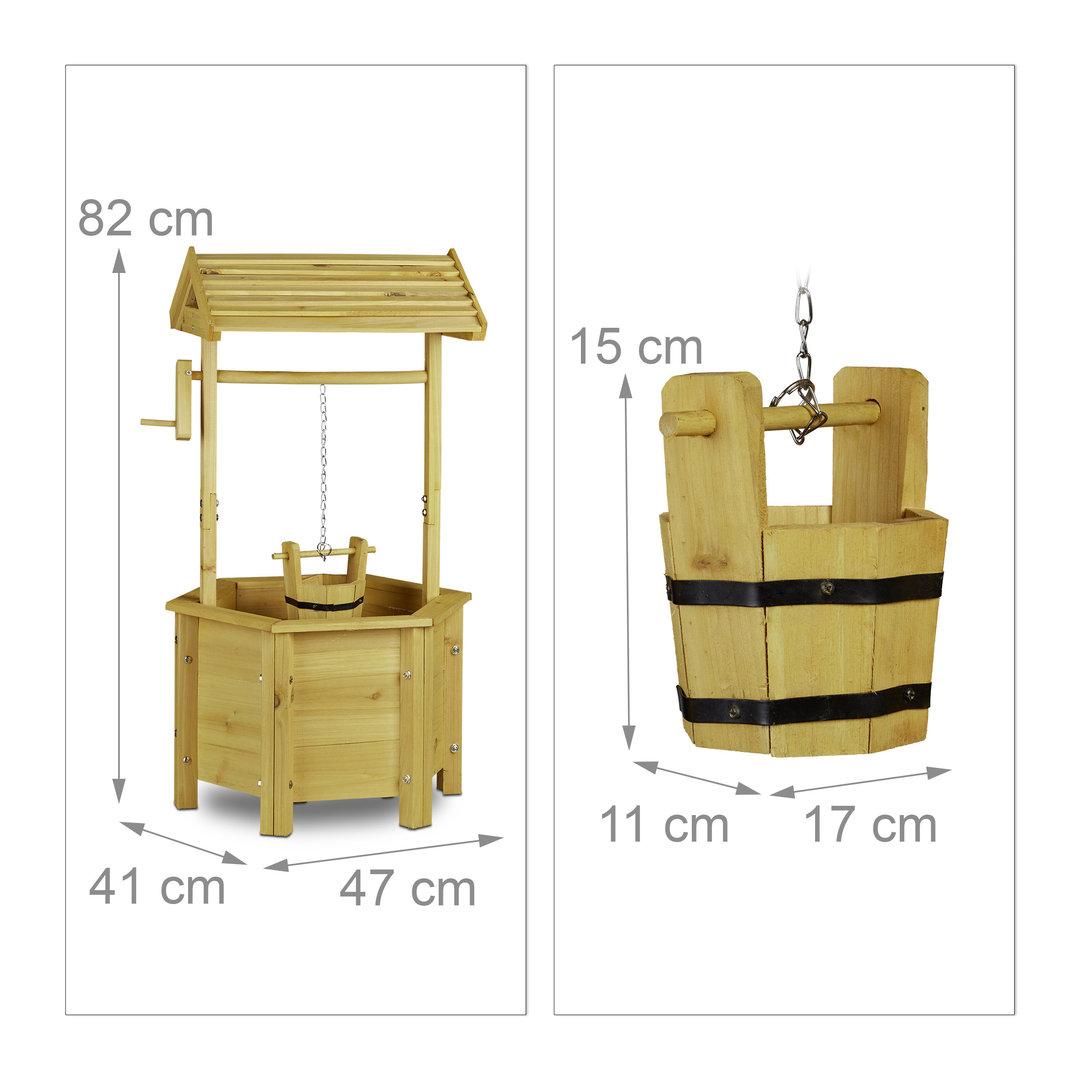 puit d coratif en bois francky shop com. Black Bedroom Furniture Sets. Home Design Ideas
