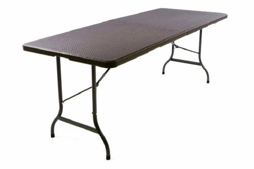 Table Imitation Rotin Pliante brun