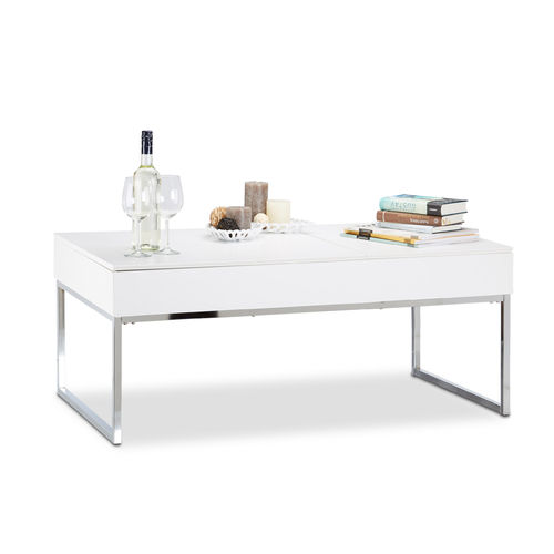Table basse modulable blanche