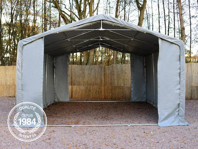 5x8m tente de stockage h 3m porte 3x3 3m toile pvc de 720 g m anti feu gris francky. Black Bedroom Furniture Sets. Home Design Ideas