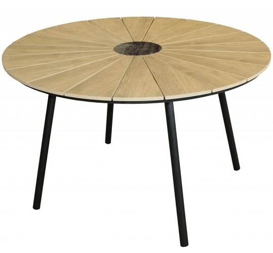 Table patio design moderne ronde 120cm