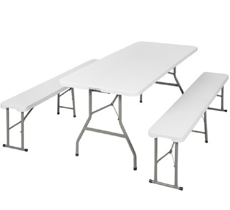 Table pliable + 2 bancs pliant 6 personnes