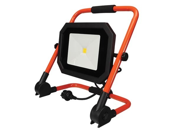PROJECTEUR DE CHANTIER PORTABLE À LED - PLIANT - 50 W - 4000 K