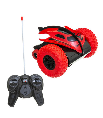 Be Toys - Véhicule Bolide 360° Radiocommandé 2 Roues 27 MHZ Rouge
